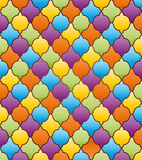 Abstract mosaic background with ornament. Stock Images