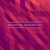 Abstract mosaic background. Pink, purple, orange triangles geometric background.. Design elements. Vector illustration EPS10 Stock Photo