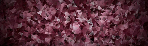 Abstract mosaic background of vinous gradient triangles Royalty Free Stock Photography