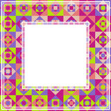 Abstract mosaic border Stock Photos