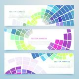 Abstract mosaic colorful headers and banners. Vector Stock Photos