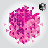 Abstract mosaic cubic geometric background Royalty Free Stock Image