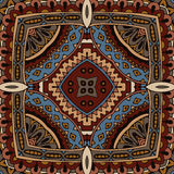 Abstract mosaic ethnic seamless vector pattern Royalty Free Stock Photo