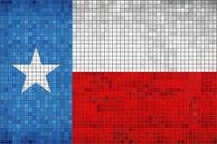 Abstract Mosaic flag of Texas. Illustration Stock Image