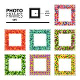 Photo frame-10. Abstract mosaic frames set isolated on white background. Templates for photo or images vector illustration