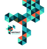 Abstract mosaic geometric shapes isolated stock illustration