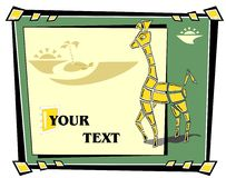 Abstract mosaic Giraffe Royalty Free Stock Photo