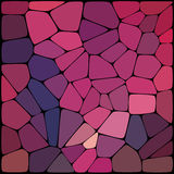 Abstract mosaic pattern consisting of geometric elements. Of different sizes and colors. Vector illustration Royalty Free Stock Photography