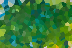 An abstract mosaic pattern designed in tints of green and light blue Royalty Free Stock Image
