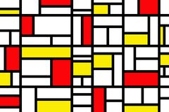 Abstract mosaic pattern grid with random colours. Red and yellow royalty free illustration