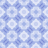 Abstract mosaic pattern. Seamless mosaic pattern with abstract blue crystals Stock Photo