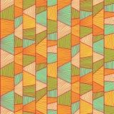 Abstract mosaic pattern. Seamless vector. Royalty Free Stock Photo