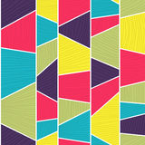 Abstract mosaic pattern. Seamless vector. Royalty Free Stock Photography
