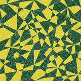 Abstract mosaic pattern with triangles. Seamless vector. Green c Royalty Free Stock Photography
