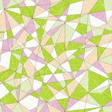 Abstract mosaic pattern with triangles. Seamless vector. Pale co Stock Photography