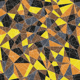 Abstract mosaic pattern with triangles. Seamless vector. Warm or. Abstract mosaic pattern with yellow and orange triangles. Seamless vector. Stylized delta Royalty Free Stock Photography