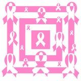 Abstract mosaic pink Support Ribbon royalty free illustration