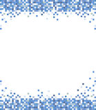Abstract mosaic pixel vector background. Abstract blue mosaic pixel vector background illustration Royalty Free Stock Photos