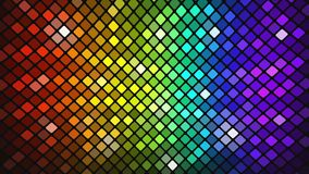 Abstract mosaic rainbow colored glowing squares stock video