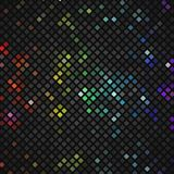 Abstract mosaic rainbow glowing squares. Royalty Free Stock Image