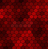 Abstract mosaic red stone on a black background Royalty Free Stock Images