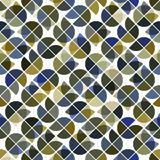 Abstract mosaic retro seamless pattern. Stock Photography