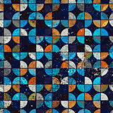 Abstract mosaic retro seamless pattern. Royalty Free Stock Photos