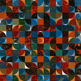 Abstract mosaic retro seamless pattern. Stock Images