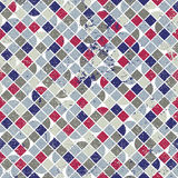 Abstract mosaic seamless background, vector geometric seamless p Stock Photography