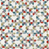 Abstract mosaic seamless background, vector geometric seamless p Royalty Free Stock Photo