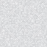 Abstract mosaic seamless pattern. Fragments of a circle laid out from tiles trencadis. Vector background. Abstract mosaic seamless pattern. Fragments of a Royalty Free Stock Photography
