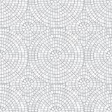 Abstract mosaic seamless pattern. Fragments of a circle laid out from tiles trencadis. Vector background. Abstract mosaic seamless pattern. Fragments of a royalty free illustration
