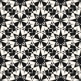 Abstract mosaic seamless pattern. Vector monochrome ornamental background. Stock Images