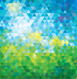 ABSTRACT MOSAIC SUMMER BACKGROUND. Royalty Free Stock Image