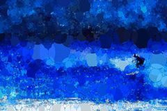 Abstract royal blue surfing background stock photography