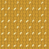 Abstract mosaic tile in golden design Royalty Free Stock Photo