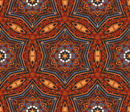 Abstract mosaic  tiled motif. Abstract Tribal indian mosaic motif seamless pattern Royalty Free Stock Images