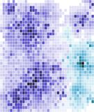 Abstract mosaic tiled pattern in blue and purple Stock Image