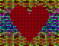 Abstract mosaic tiles heart background Stock Photos