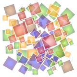 Abstract Mosaic Tiles Pattern. An abstract texture pattern background of a mosaic of colorful tiles with opacity effect stock illustration