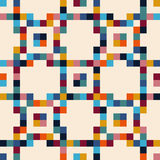 Abstract mosaic tiles, seamless geometric pattern Stock Photo