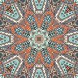 Abstract mosaic tiles seamless pattern ornamental. Abstract Tribal indian mosaic motif seamless pattern. Bohemian Geometric print Royalty Free Stock Image