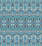 Abstract mosaic vintage seamless pattern. Abstract geometric mosaic vintage ethnic seamless pattern ornamental Royalty Free Stock Photography