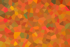 An abstract mosaic wallpaper pattern designed in bright orange, yellow, red and green colors Royalty Free Stock Photography
