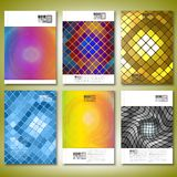 Abstract mosaics. Brochure, flyer or report for. Brochure, flyer or report for business, template vector Stock Photography