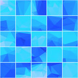 Abstract mosaik blue background vector illustration