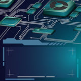 Abstract motherboard vector circuit background royalty free illustration