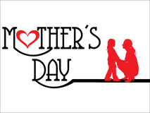 Abstract Mothers day background Stock Image