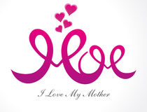 Abstract mothers day background. Vector illustration Stock Photography
