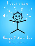 Abstract mothers day card Royalty Free Stock Photos